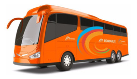 Ônibus Roma Bus Executive - Laranja - 48cm - Roma Brinquedos