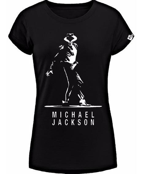 Michael Jackson Remera De Dama, Estampada Con Vinilo
