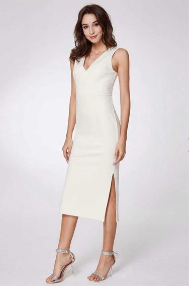 Vestido Blanco Sexy Ajustado Elegante