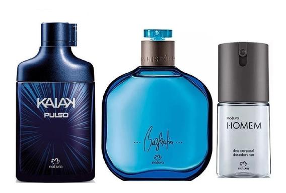 Combo Perfumes Masculinos Natura Kaiak Pulso + Biografia Tradicional