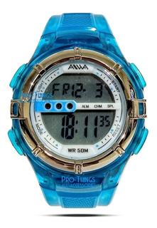 Reloj Aiwa Niños Digital Luz Fecha Crono Alarma Sumergible