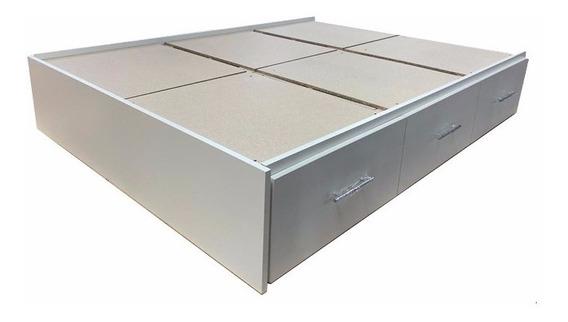 Box Somier - Base Somier Con 6 Cajones
