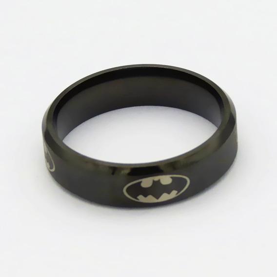 Anel Batman Aço Inox ,preto