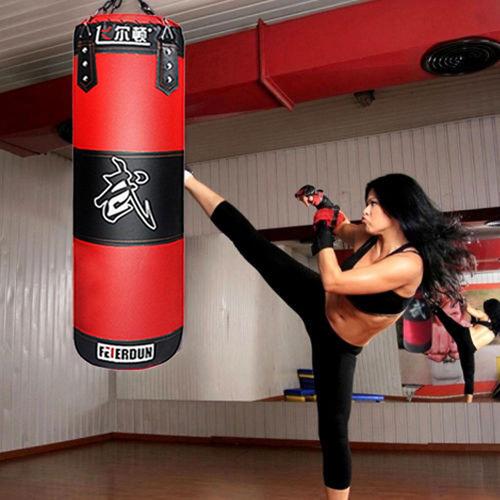 Saco de Boxeo Pesado Guantes de Entrenamiento Speed Set Kicking MMA Workout