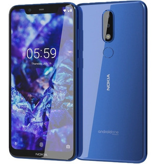 Nokia 5.1 Plus + 32gb Rom 3gb Ram Android One 9 Pie 4g/lte