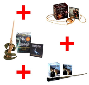 Wizards Wand + Time Turner + Wand With - 3 Kits Harry Potter