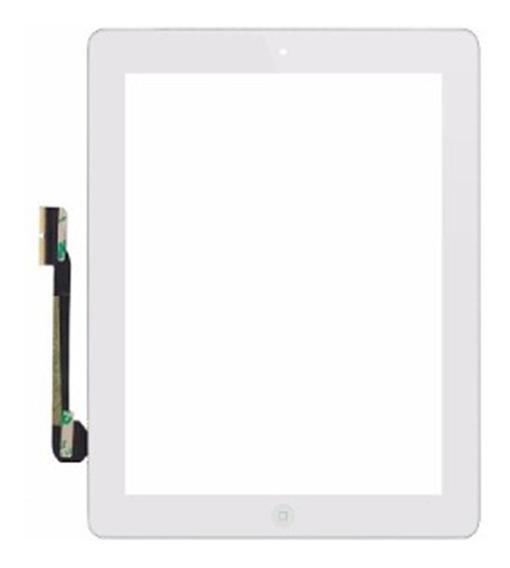 Touch iPad 3 / 4 A1458 A1459 A1460 C/ Botão Home Branco +nf