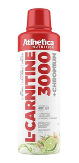 L- Carnitine 3000 + Chromium - 480ml - Atlhetica Nutrition