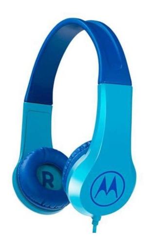 Fone De Ouvido Motorola Squad 200 Kids Com Fio - Azul
