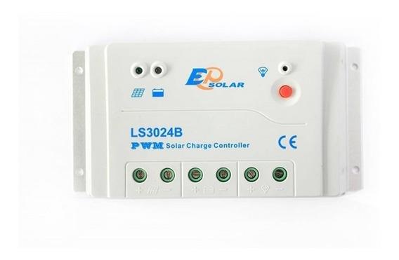 Controlador Carga 30a 12/24v Epever Ls3024b 3 Estagio Carga