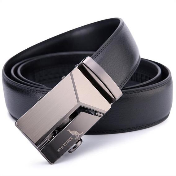 Cinturón San Vitale Hombre Hebilla Automática Alta Calidad