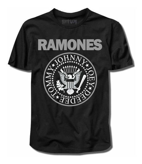 Camisa Ramones Logo Clássica (punk/misfits/stones) Rock