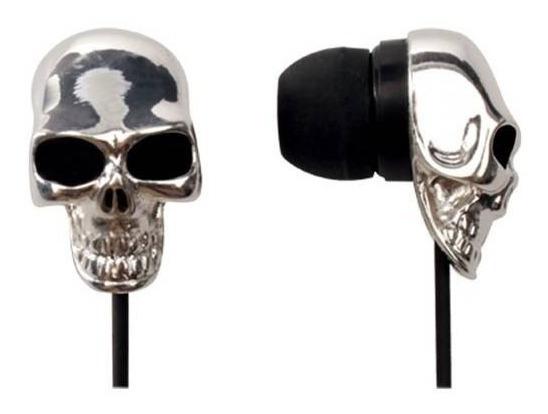 Fone De Ouvido Skull Mini Prata 607722 Maxprint Melhor Preço