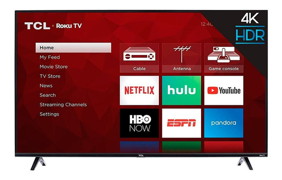Tcl Smart Tv 43 K Uhd Hdr Smart Roku Led 43s42