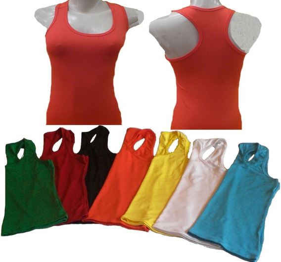 Kit 15 Regata Feminina Nadador Camiseta Blusa Viscolycra