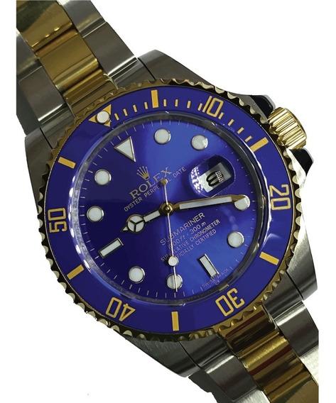 Reloj Rolex Submariner Automatico Bi Tono Azul C/caja 44mm