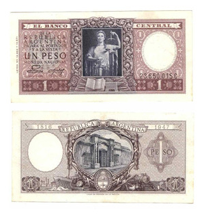 Argentina Billete 1 Peso Moneda Nacional Bottero 1914