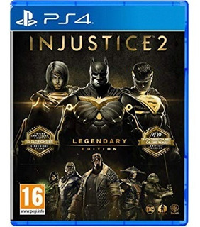 Injustice 2 Legendary Edition Ps4 - Juego Fisico - Prophone