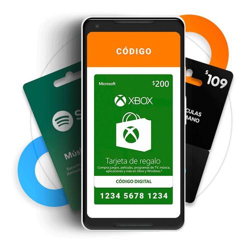 Imagen 1 de 3 de Xbox Live Tarjeta De Regalo $200 Mxn (envió Nuevo Y Digital)