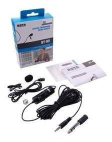 Microfone Lapela By-m1 Boya Para Câmeras E Smartphones Nf