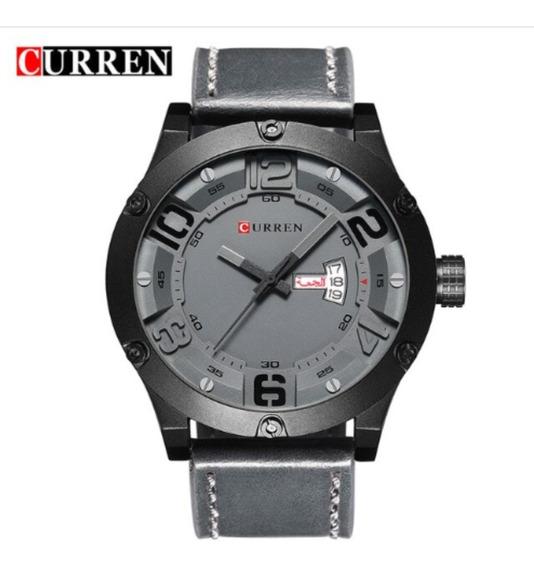 Relógio Masculino Original Curren Pulseira De Couro 8251