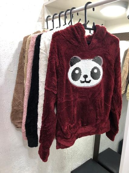 Blusa De Lantejoulas Do Urso Panda