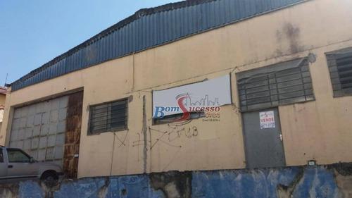 Imagem 1 de 8 de Galpão, 600 M² - Venda Por R$ 2.500.000,00 Ou Aluguel Por R$ 15.000,00/mês - Vila Santa Clara - São Paulo/sp - Ga0251