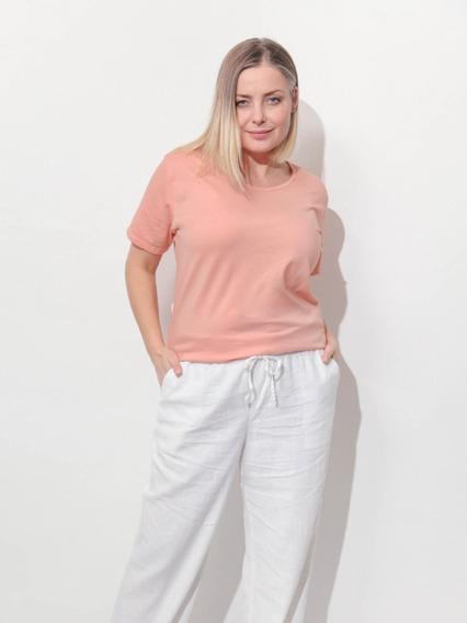 Remera Lisa Mujer Cuello Redondo Dama Curvy Kierouno