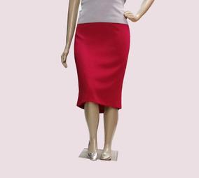 Saia Social Feminina Plus Size Forrada Elástico Cintura -94