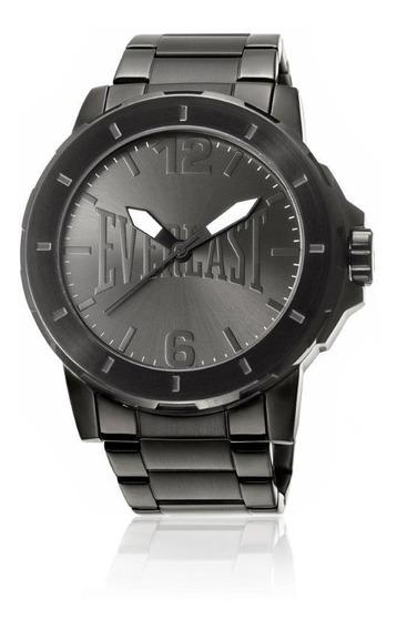 Relógio Analógico Everlast E601 Cx E Pulseira Aço Masculino