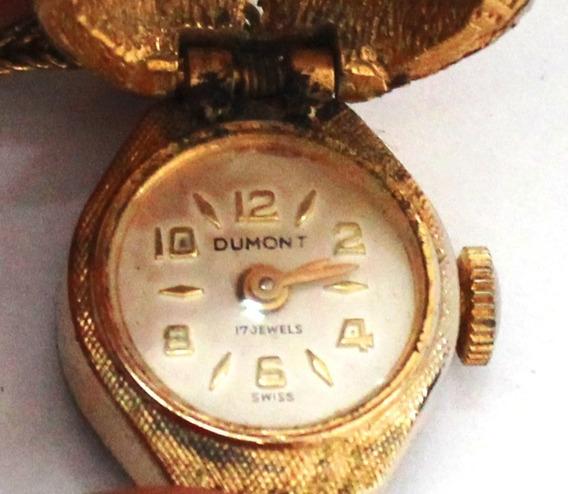 Antigo Relógio Pingente Dumont Á Corda