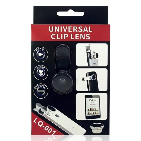 Kit Lentes Universal 180 Graus Angular