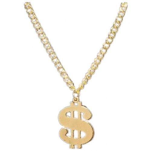 4b25ff95699a Signo De Dólar Oro Collar Chulo Rapero Hip Hop Bling Disfraz -   99.000.000  en Mercado Libre