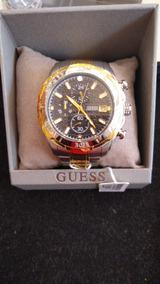 Relógio Guess Masculino Prata E Dourado