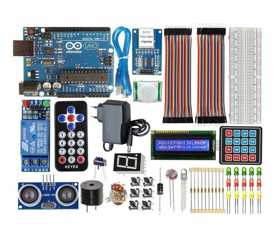 Kit Arduino Uno R3 Iniciante Automação Wifi + Sensor Brinde