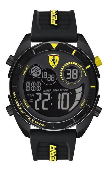 Relógio Ferrari Forza Digital 830552 Novo Na Caixa Garantia