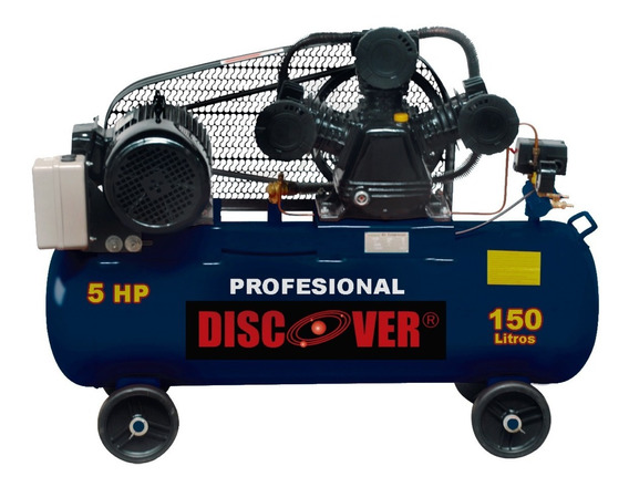 Compresor Discover Piston Polea Trifa 150 Lit 5hp Jn3065