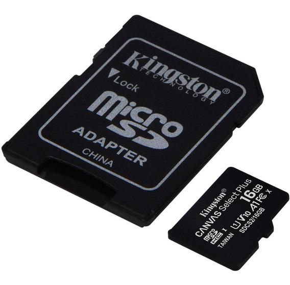 Memoria Micro Sd 16gb C/adaptador Kingston Canvas Plus