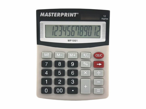 Calculadora Manual 12 Dígitos - Mp 1061
