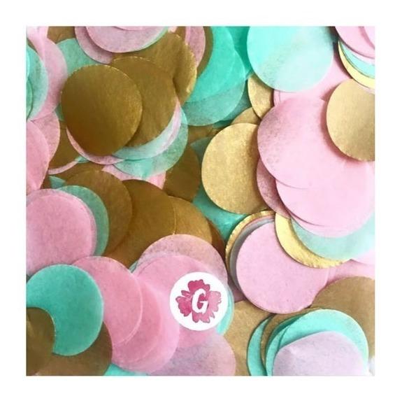 Confetti Colores Pasteles Dorado Plateado Para Decorar Mesas