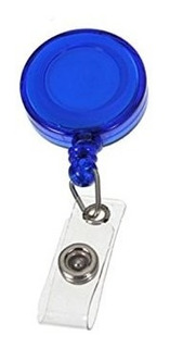 10 - Dispositivo Porta Carnets Tipo Yoyo Color Azul Ofiart