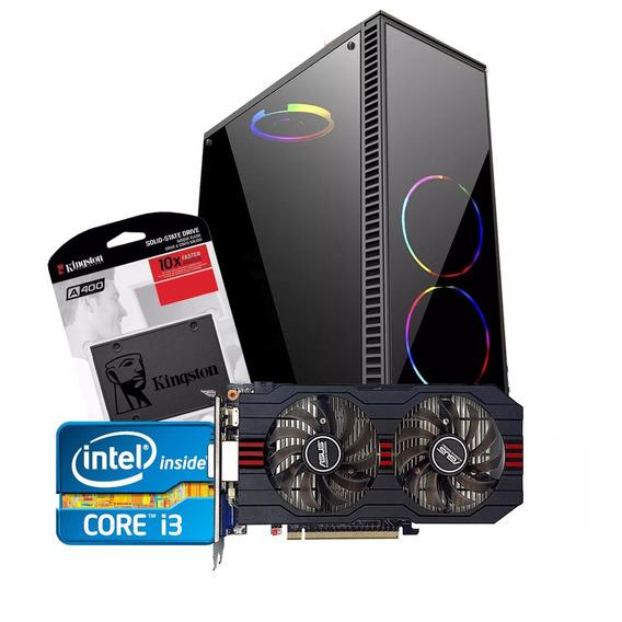 Pc Gamer Core I3 + Gtx 750ti 2gb + 4gb Memória + Ssd120 + Hd