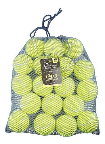 Imagen 1 de 3 de Pack De 18 Pelotas Tenis Tennis Athletic Works  Presurisadas