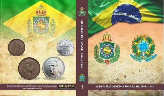 Box Coleção De Moedas Por Tipo Do Brasil