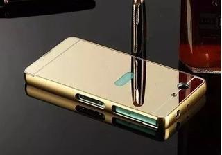 Bumper Capa Sony Xperia M5 Espelhada Alumínio Celular
