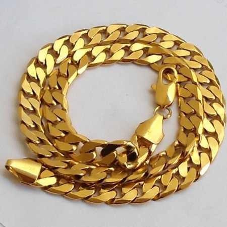 Lindissima Corrente Folheada A Ouro Resistent Um Luxo,