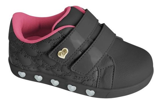 Tênis Infantil Pampili Sneaker Luz Coração