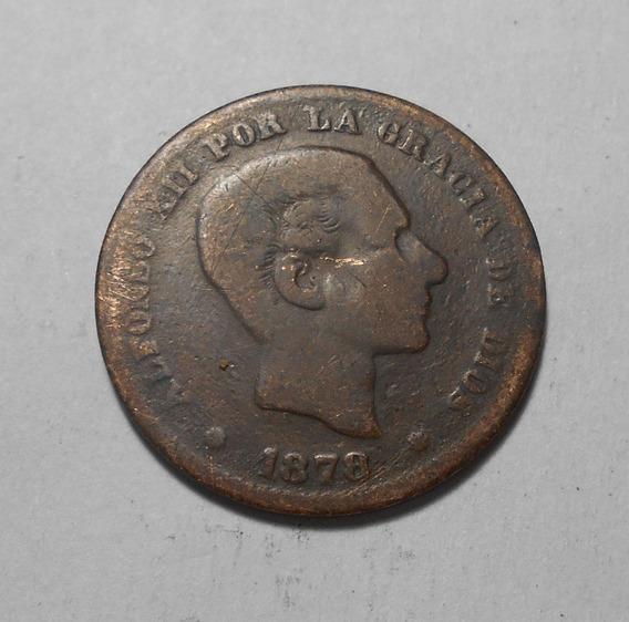 España Afonso Xii 5 Centimos 1878 O M - Km#674