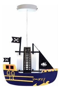 Candil Colgante Decorativo Infantil Barco Pirata Adir 5138