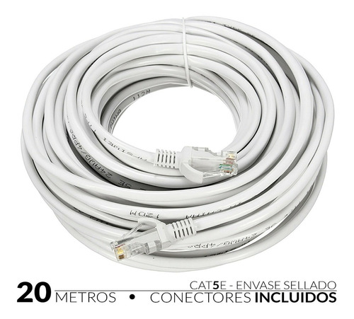 Cable De Red Internet 20 Metros Cable Red Utp Cat 5e  Lan